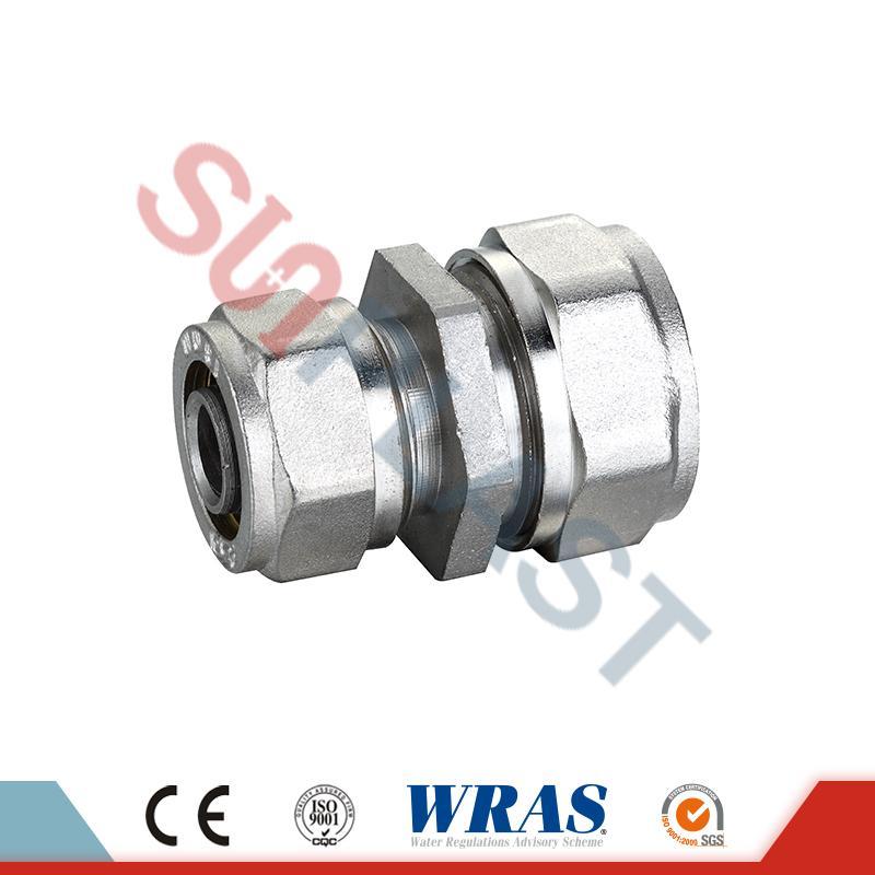 Brass Compression Reducing Coupling For PEX-AL-PEX Multilayer Pipe